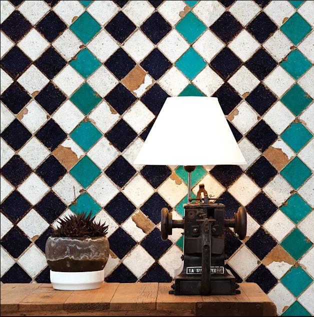 Gạch ốp tường nhà đẹp theo phong cách Retro