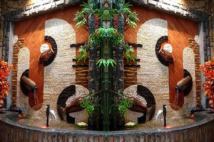 Gạch trang trí tiểu cảnh giả gỗ