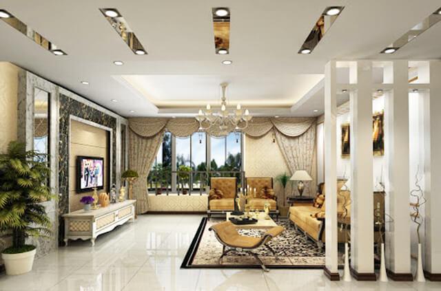 Chọn gạch cho nhà đẹp 2 tầng phong cách biệt thự tân cổ điển 3