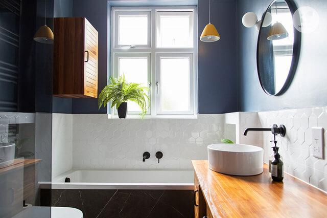 Phòng tắm xanh giúp mang đến những phút giây thư thái cho người dùng