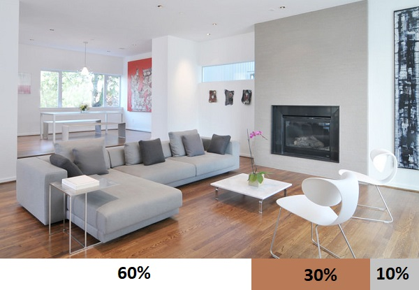 Xám là một trong những gam màu HOT TREND hiện nay nên rất được ưa chuộng trong thiết kế nội thất nhà ở. Gam màu trung tính này mang đến cho phòng khách vẻ đẹp thanh lịch, hiện đại