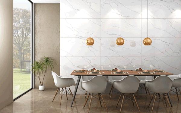 Nếu căn phòng ngủ của gia đình bạn có diện tích nhỏ hẹp, hãy lựa chọn gạch lát nền giả gỗ màu nâu kết hợp với sơn tường màu sáng, bạn sẽ bất ngờ khi thấy căn phòng trông rộng rãi hẳn