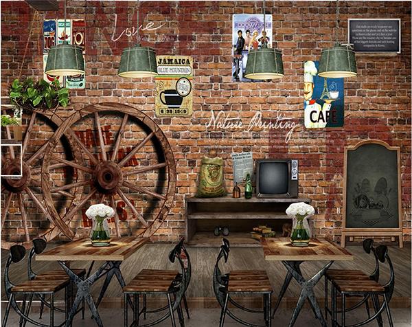 Gạch ốp tường quán cafe mới nhất