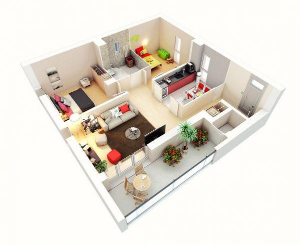 Thiết kế chung cư 2 phòng ngủ HOÀN HẢO đến từng milimet 2